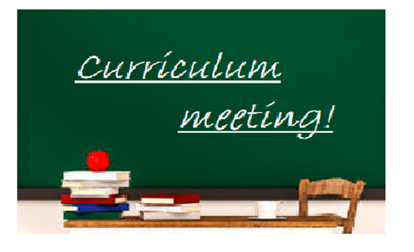 Curriculum Meetings